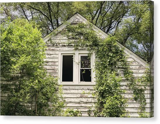 Abandoned House Canvas Print - Through The Window by Kim Hojnacki
