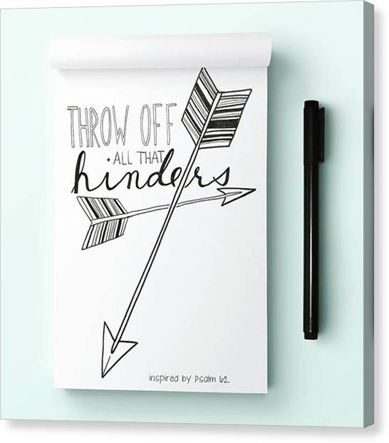 Sketch Canvas Print - Throw Off All That Hinders by Nancy Ingersoll