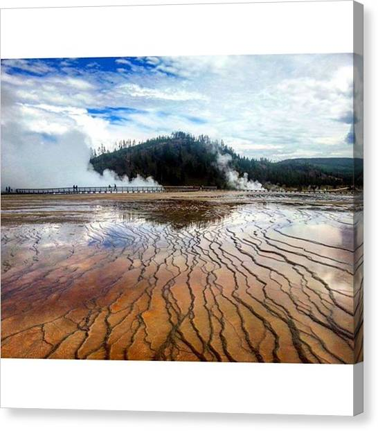 Yellowstone National Park Canvas Print - Throwback To 2014 To Breathtaking Grand by Norbert Chromek