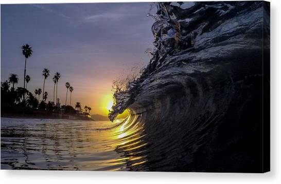 Ocean Sunrises Canvas Print - Throwing Lassos  by Sean Foster