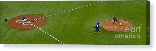 Throwing The First Pitch Canvas Print