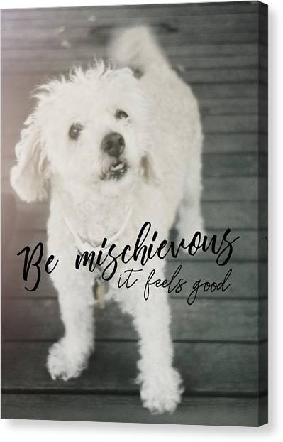 Thumper Dog Quote Canvas Print by JAMART Photography