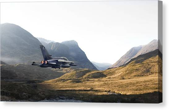 Tornadoes Canvas Print - Thunder In The Glen by Pat Speirs