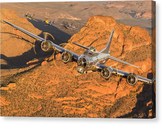 Thunder On The Mountain Canvas Print