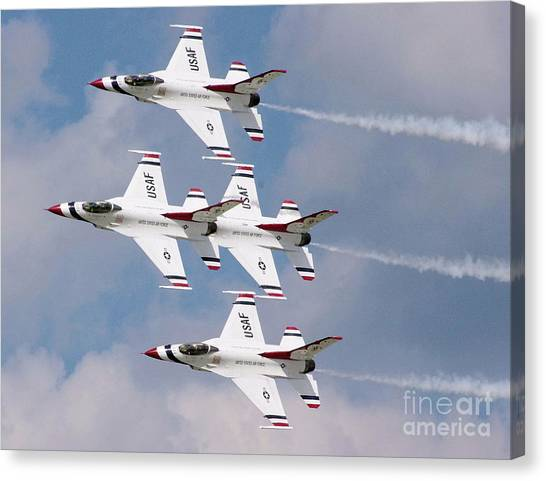 Thunderbird Diamond Formation Canvas Print