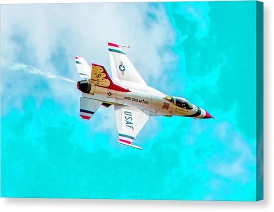 F16 Canvas Print - Thunderbird IIi by Bill Gallagher