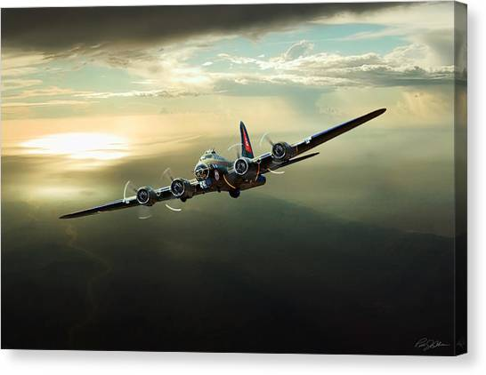 United States Army Air Corps Canvas Print - Thunderbird by Peter Chilelli