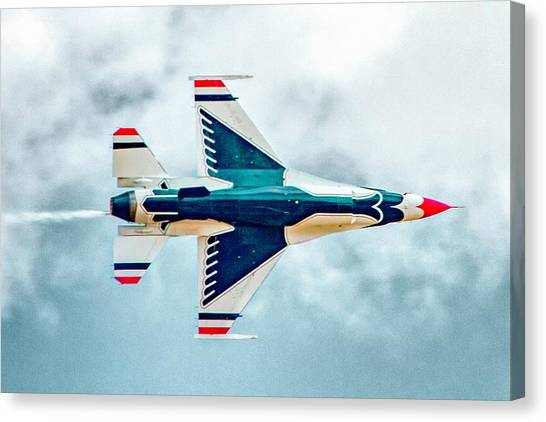 F16 Canvas Print - Thunderbird Underbelly by Bill Gallagher