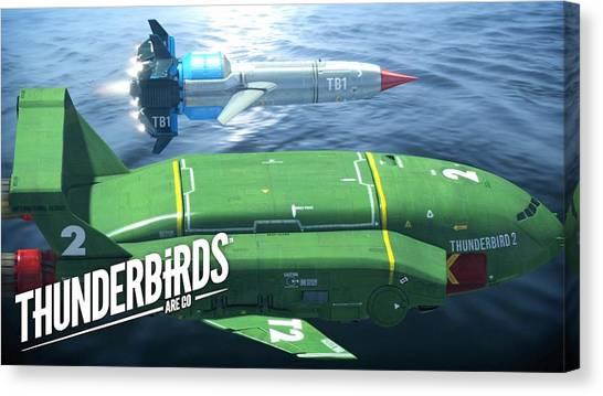 Submarine Canvas Print - Thunderbirds Are Go by Maye Loeser