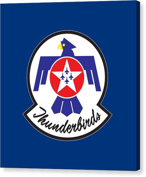 Thunderbirds Logo Canvas Print