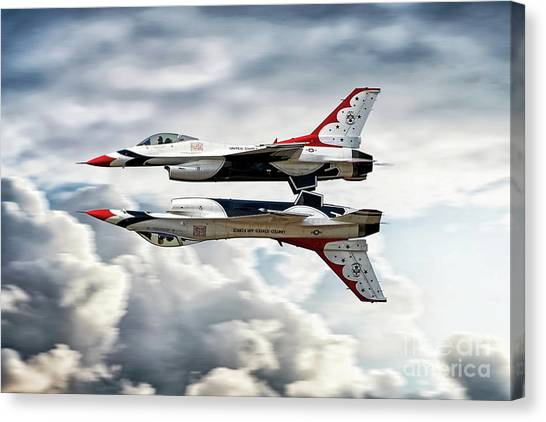 F16 Canvas Print - Thunderbirds Mirror by J Biggadike