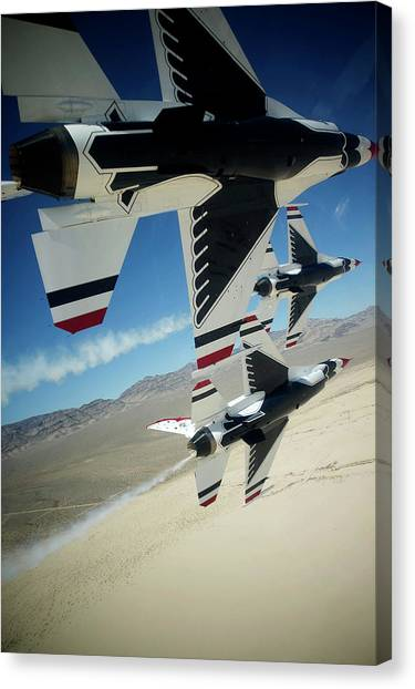 Thunderbirds Photo Canvas Print