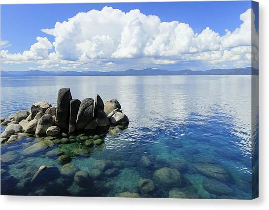 Canvas Print featuring the photograph Thunderclouds by Sean Sarsfield