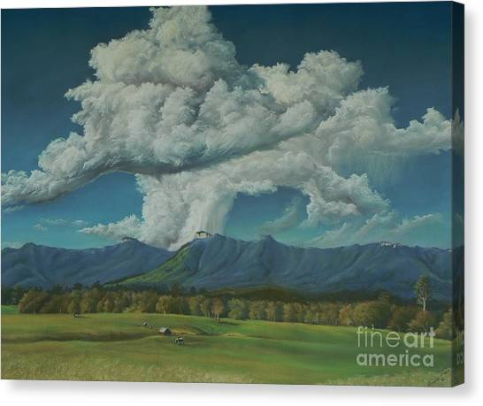Thunderhead Over Lansdowne Canvas Print by Louise Green