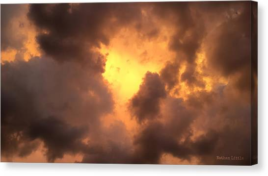 Thunderous Sunset Canvas Print
