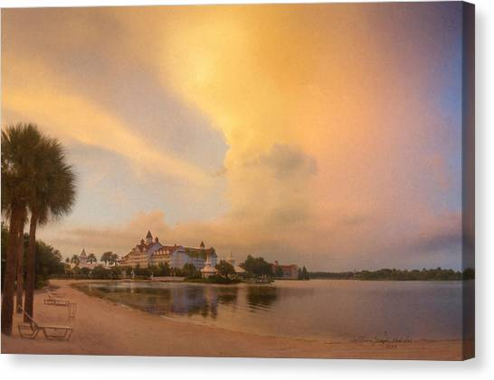 Thunderstorm Over Disney Grand Floridian Resort Canvas Print