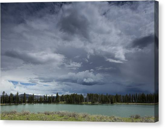 Thunderstorm Over Indian Pond Canvas Print