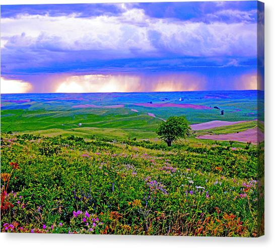 Thunderstorm Over The Palouse Canvas Print