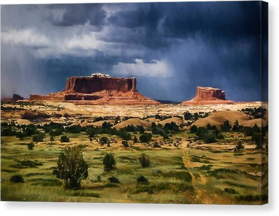 Thunderstorms Approach A Mesa Canvas Print