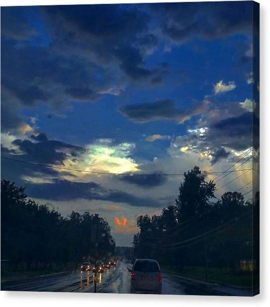 Rainclouds Canvas Print - #thunderstorms #cloudyday #cloudporn by Elisa Waldman