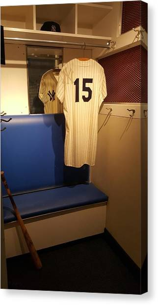 New York Yankee Captian Thurman Munson 15 Locker Canvas Print