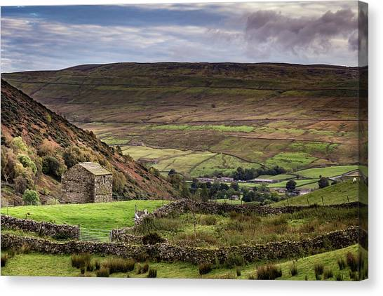 Thwaite Barn Canvas Print by Yorkshire In Colour