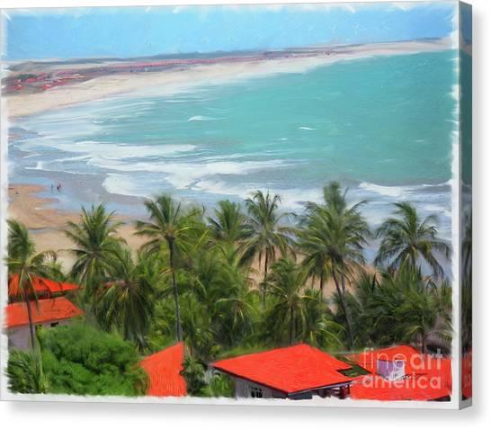 Tiabia, Brazil Beach Canvas Print
