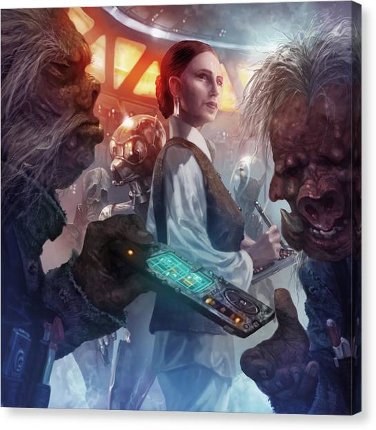 Droid Canvas Print - Tian Chyler by Ryan Barger