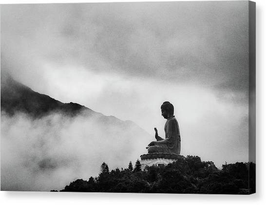 Buddha Canvas Print - Tian Tan Buddha by picture by Chris Kench Photography