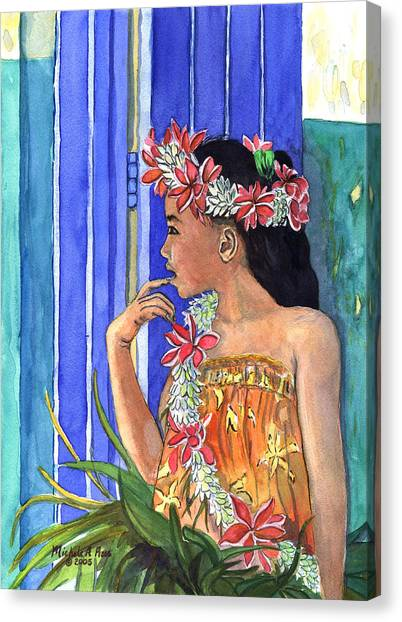 Hawaii Canvas Print - Tiare Lei by Michele Ross
