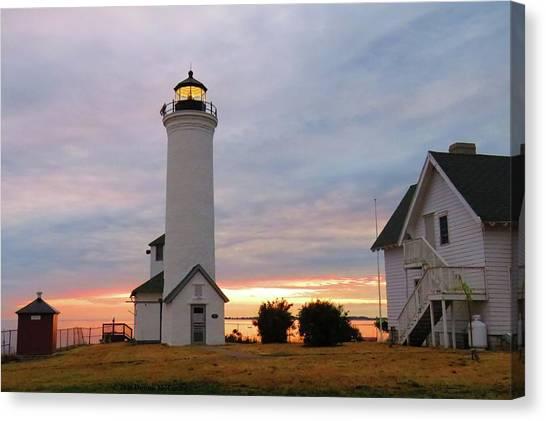 Tibbetts Point Lighthouse, July Sunset Canvas Print