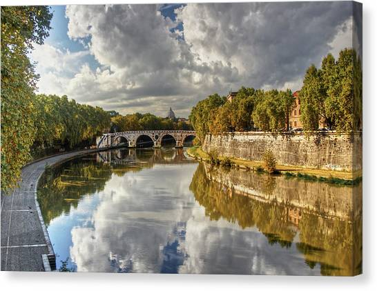 Tiber Morning Canvas Print