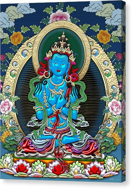 God Canvas Print - Tibetan Thangka -  Vajradhara by Serge Averbukh