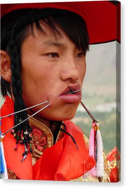 Tibetan Tradition Canvas Print by Cris Motta