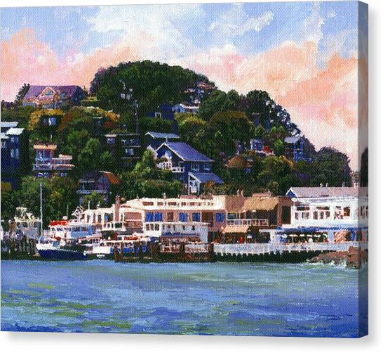 Tiburon California Waterfront Canvas Print