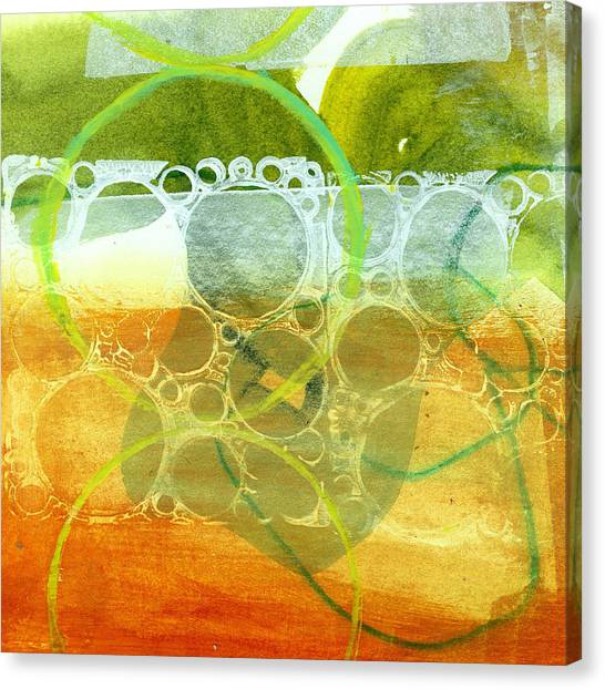 Grid Canvas Print - Tidal 13 by Jane Davies