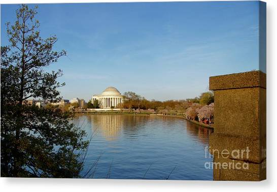 Canvas Print - Tidal Basin And Jefferson Memorial by Megan Cohen