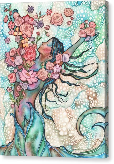 Mermaids Canvas Print - Tidal Bloom by Tamara Phillips