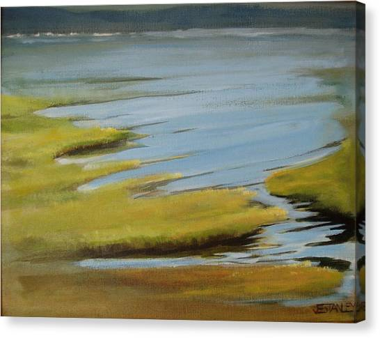 Tidal Pond Canvas Print by Jenny Stanley