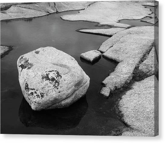 Tide Pool Boulder Canvas Print