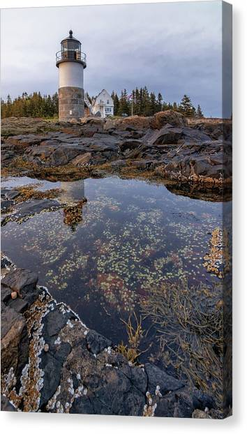 Tide Pools At Marshall Point Lighthouse Canvas Print