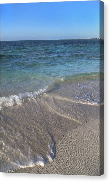 Carribbean Canvas Print - Tides Of Time by Betsy Knapp