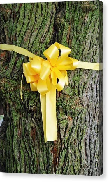 Tie A Yellow Ribbon Canvas Print by Lyle  Huisken