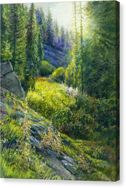 Tie Canyon Sunrise Canvas Print