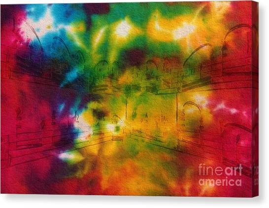 Tie-dyed Intermezzo Dream Canvas Print