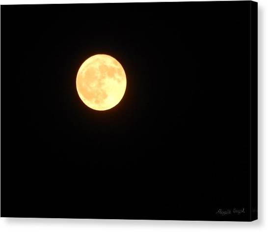 Tie Dyed Orange Moon Canvas Print