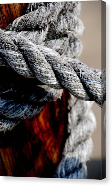 Rope Canvas Print - Tied Together by Susanne Van Hulst