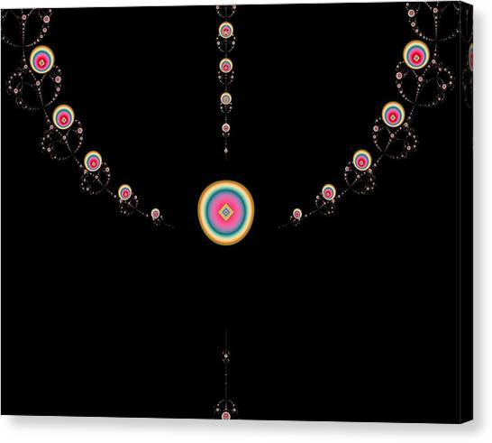 Tiered Necklace Canvas Print by Thomas Smith