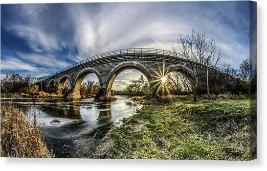 Tiffany Bridge Panorama Canvas Print