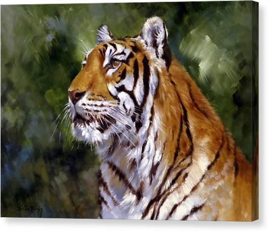 Tiger Alert Canvas Print by Silvia  Duran